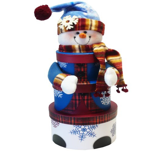 ... Gift Baskets Snowman Stacking Tower Christmas Holiday Gift Set