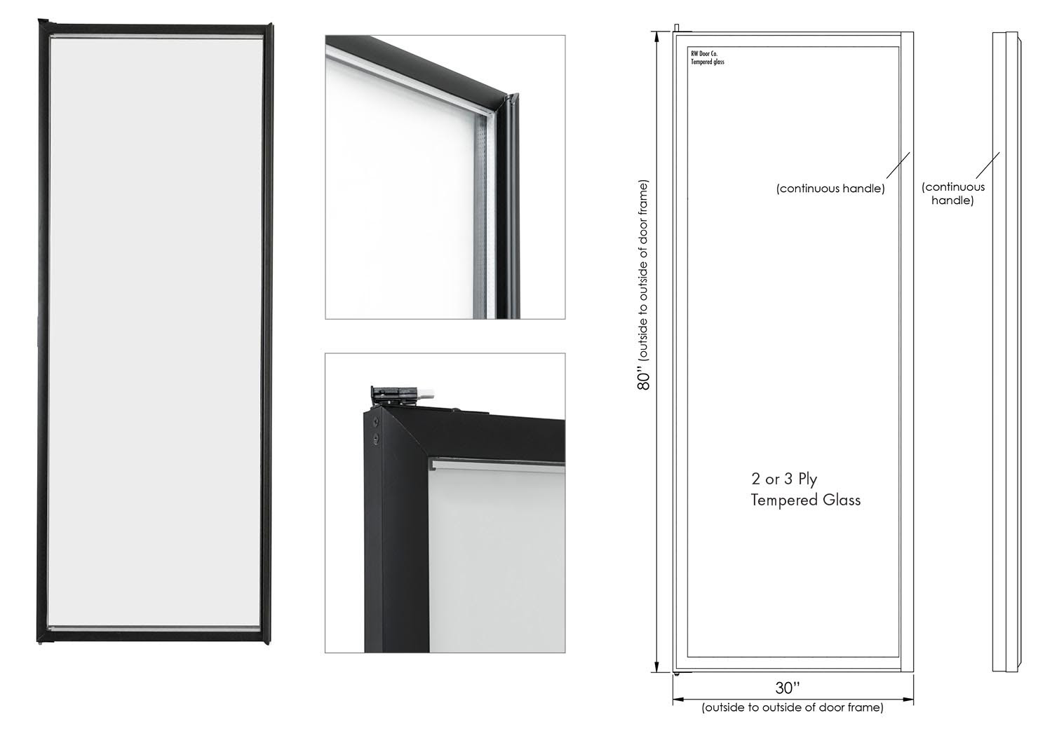Rw International Standard Display Glass Doors