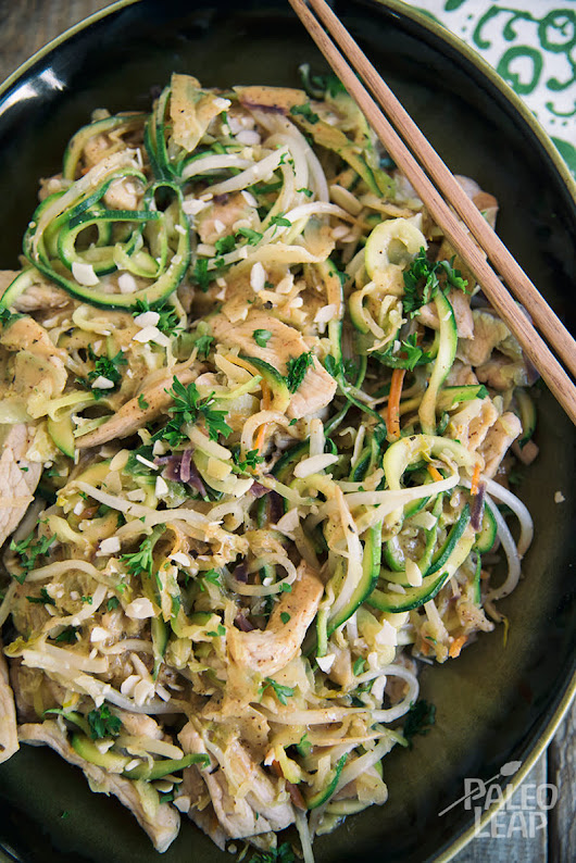 Almond Butter Chicken With Zucchini Noodles Recipe