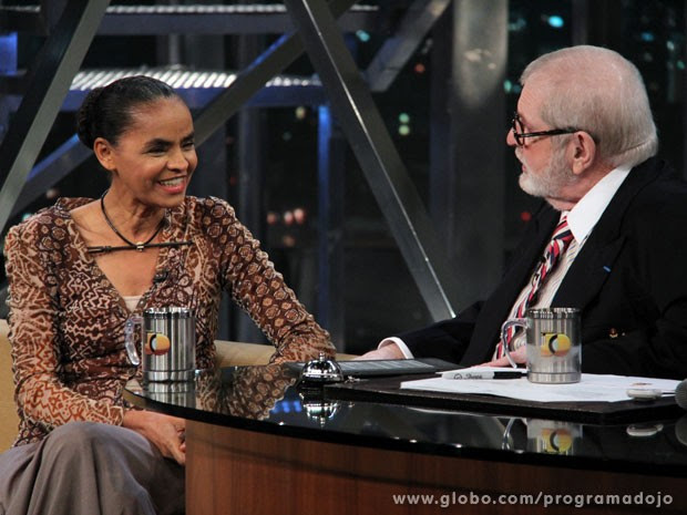 Jô Soares entrevista Marina Silva em um programa especial (Foto: TV Globo/Programa do Jô)