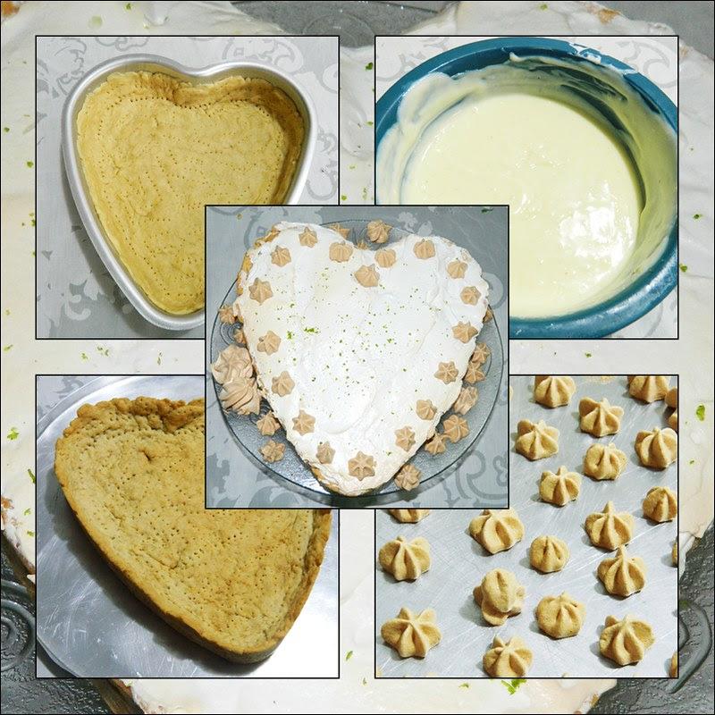 juliana leite como fazer torta de limão merengue massa mousse formato de coração amor receita passo a passo