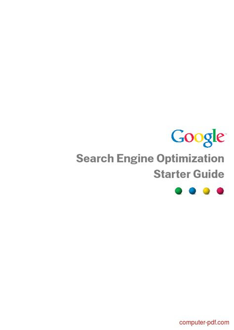 [PDF] Google's Search Engine Optimization SEO Guide free