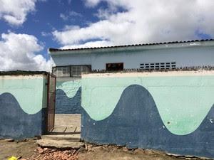 Escola São Francisco, na zona rural de Ibirajuba (Foto: Paula Cavalcante/ G1)