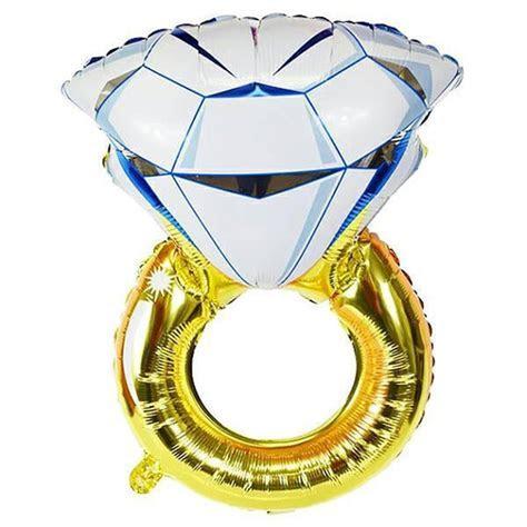 40 inches Big Balloon Diamond Ring Foil Balloons