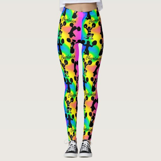 ABSTRACT AND COLORFUL CHEERLEADER LEGGINGS