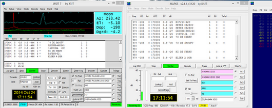 "Berend on Twitter: ""WSJT-7 MAP-65  still decode satellite  4M at 145.980 Mhz  Mode: JT-65B  Sign:  -16  -25 db  Elev: 3.8 deg Ant: 2X10el """
