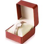 "Single Slot Brown Leather Watch Box, Travel Watch Storage Display Case Holder Organizer for Jewelry Bracelet Gift, 4""x4.4""x2.9"""