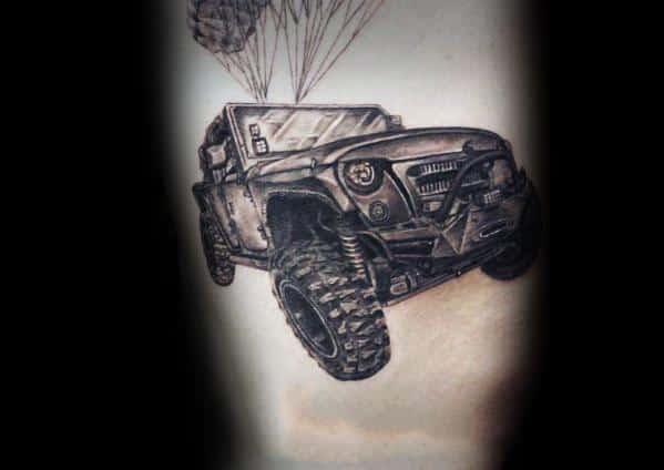 Desenhos de tatuagem de jipe Mens