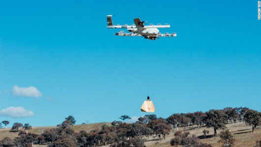 Google drones will drop burritos into people's yards in Australia