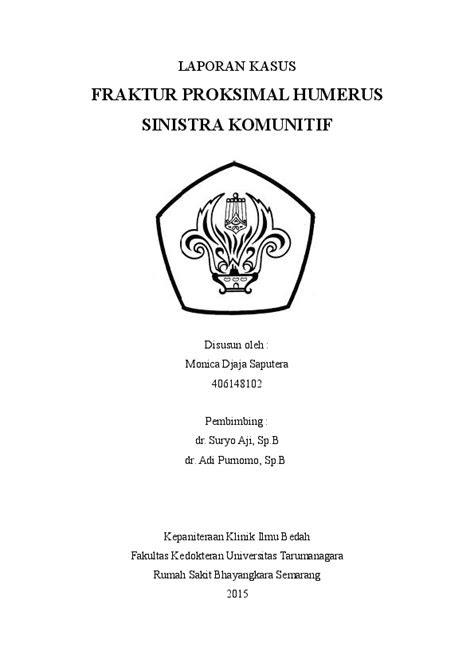 (DOC) Laporan Kasus Fr Proximal Humerus Sinistra Kominutif