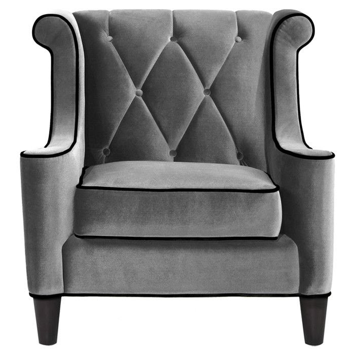 Barrister Arm Chair in Gray