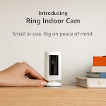 Ring Indoor Cam, Compact Plug-In HD camera with two-way talk, White, Works with Alexa