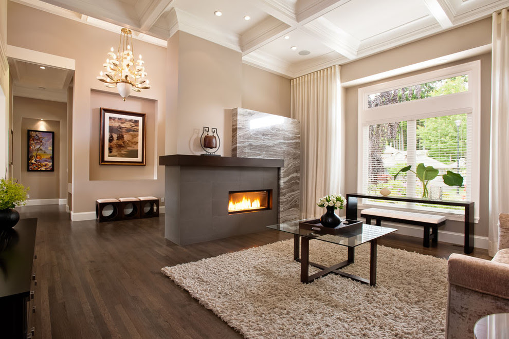 Baroque shaggy rugs in Living Room Transitional with ...