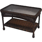Oakland Living 90027-CT-CF -B 29 x 17.5 x 18 in. Resin Wicker Coffee Table Coffee