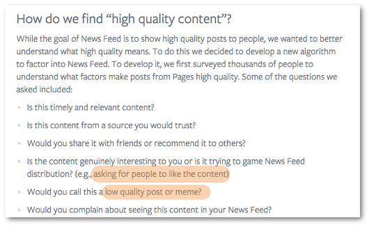 Facebook News Feed Algorithm Change: No More Memes or Asking for Likes