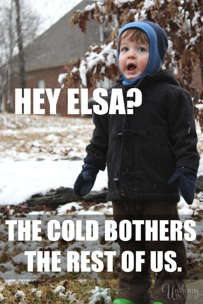 frozen, frozen funny, cold bothers us, cold never bothered me anyway, disney frozen, disney frozen joke