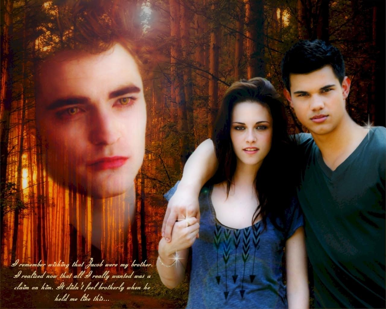 Edward Bella Jacob Series Twilight Wallpaper 8380315 Fanpop