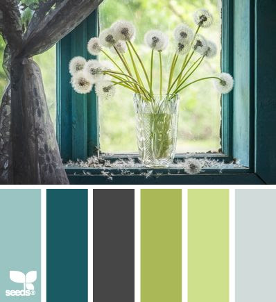 Bedroom colors. Our bedroom is ALMOST that teal color... just a little more green in it.