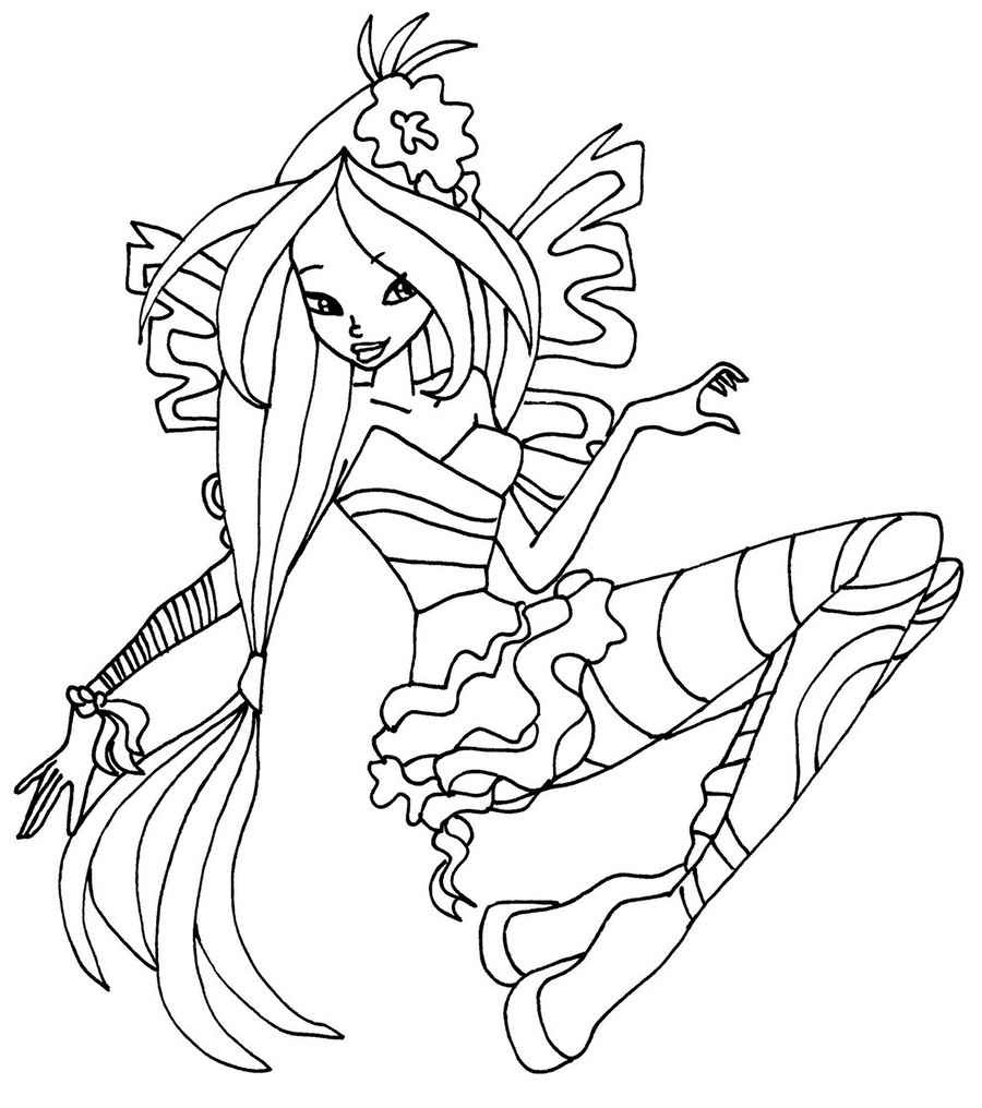 Winx Club Coloring Pages Bloom Sirenix Powers