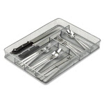 Honey-Can-Do International KCH-02162 Steel Mesh Cutlery Tray