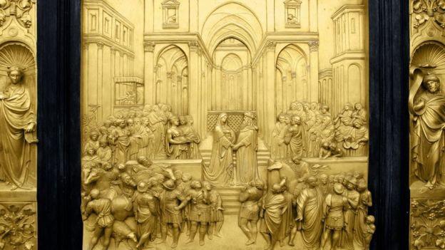 Representação de cerimônia no Templo de Salomão