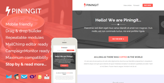 Piningit, Responsive Email with Template Builder