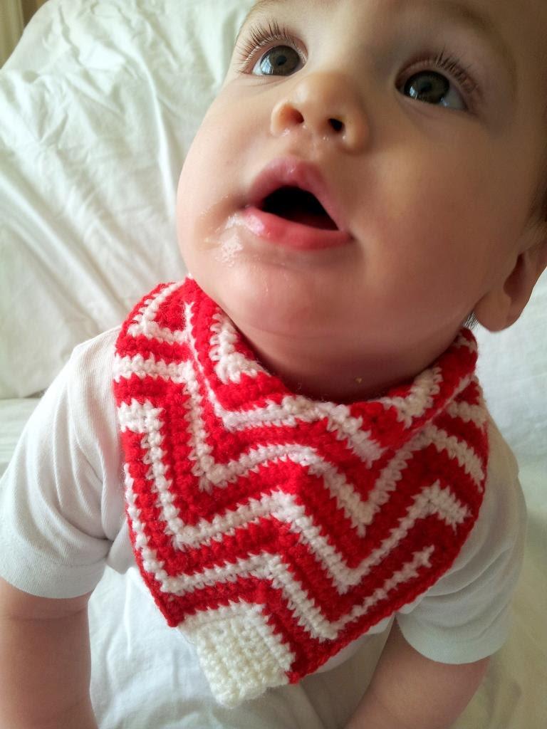 Crochet Chevron Bandana Bib Pattern