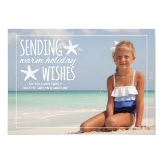 Warm Holiday Wishes   Holiday Photo Greeting Card