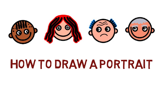 how to draw a portrait draw a person simple drawings children