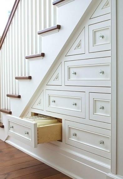 10 Ways To Decorate Under Stairs - lizmarieblog.