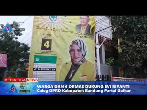 VIDEO : Hj Evi Riyanti, S.I.P Caleg  Partai Golkar untuk  DPRD Kabupaten Bandung di dukung Warga dan 6 Ormas