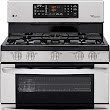 "LG - 30"" Self-Cleaning Freestanding Double Oven Gas Range - Stainless-Steel"
