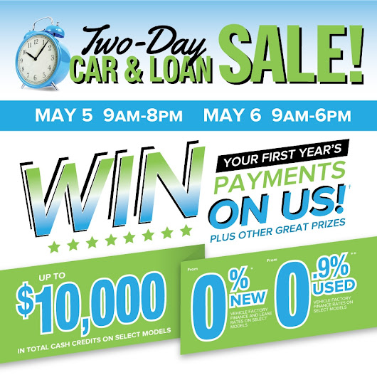 Two-Day Car and Loan Sale in St Catharines-Niagara | Performance Auto Group