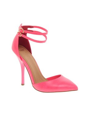 Image 1 ofASOS PRIOR Pointed High Heels With Ankle Straps