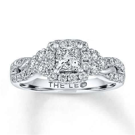 Leo Diamond Engagement Ring 1 1/8 ct tw Diamonds 14K White