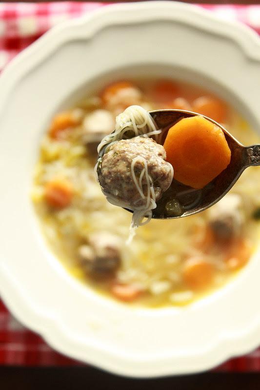 Chicken Kofte Noodle Soup