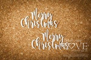 Tekturka - Napis Merry Christmas  - Winter Fun