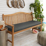 Sloane Charcoal Grey 60-inch Indoor/ Outdoor Corded Bench Cushion