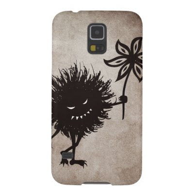 Dark Evil Bug Gives Flower Vintage Texture Case For Galaxy S5
