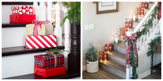 12 Stunning Christmas Stair Decorations to Step Up Your Holiday Display