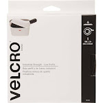 """VELCRO Brand Industrial Strength Low Profile Tape 1""""X10'-White 