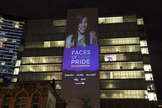 Toronto Pride supporters can see their eight-storey image projected on to Queen-Richmond Centre