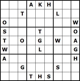 Mystery Godoku Puzzle for November 29, 2010