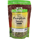 NOW Foods NOW Real Food Organic Pumpkin Seeds Raw & Unsalted 12 oz.