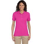 Jerzees 437W Ladies' SpotShield Jersey Polo - Cyber Pink