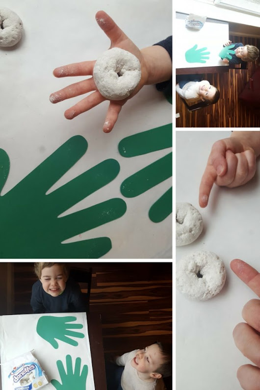 Teaching Toddlers about Germs with Powdered Donuts - A Cotton Kandi Life