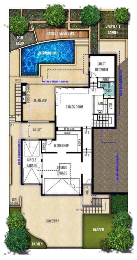 storey hamptons style home plans floor plans