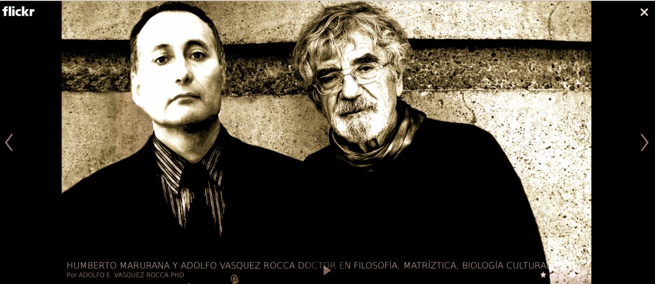 HUMBERTO MATURANA BIOLOGÍA DEL CONOCIMIENTO: MÚSICA Y JUEGO FUNDAMENTOS OLVIDADOS DE LO HUMANO Dr. HUMBERTO MATURANA Y ADOLFO VÁSQUEZ ROCCA D.Phil           Maturana por Adolfo Vásquez Rocca, Matríztica; Magíster en Biología Cultural    DE LA BIOLOGÍA DEL CONOCIMIENTO A LOS FUNDAMENTOS OLVIDADOS DE LO HUMANO EN HUMBERTO MATURANA Dr. Adolfo Vásquez Rocca  CURSO: DE LA BIOLOGÍA DEL CONOCIMIENTO A LOS FUNDAMENTOS OLVIDADOS DE LO HUMANO EN HUMBERTO MATURANA _ POR ADOLFO VÁSQUEZ ROCCA D. Phil    SEMINARIO: DE LA BIOLOGÍA DEL  CONOCIMIENTO A LOS FUNDAMENTOS  OLVIDADOS DE LO HUMANO EN  HUMBERTO MATURANA   Semestre de otoño – 2013   ESCUELA DE PSICOLOGÍA UNAB:   Prof. Dr. Adolfo Vásquez Rocca   Adolfo Vasquez Rocca Filosofía, Psicología y Biología Cultural - Matríztica H. Maturana presentations   I- CURSO: BIOLOGÍA DEL CONOCIMIENTO EN  MATURANA      H. Maturana Matríztica Biología Cultural Dr Adolfo Vásquez Rocca       Descriptor   El Curso se constituye como un espacio de investigación y experimentación a partir de preguntas que dan cuenta del desarrollo continuo de los ámbitos epistemológicos, comprensivos y explicativos que se generan a partir de abstracciones de las coherencias del vivir en los ámbitos generados por la Autopoiesis, la Deriva Natural, la Biología del Conocer, la Biología del Amar, el Conversar Liberador y el habitar biológico-cultural en las Organizaciones y Comunidades Humanas.    Se exponen los fundamentos de la teoría del conocimiento de Humberto Maturana, que surgen de tres preguntas: ¿Cuál es la organización del ser vivo? ¨¿Cuál es la organización del sistema nervioso? ¿Cuál es la organización del sistema social? Maturana desarrolla una teoría sobre la organización de los seres vivientes y la naturaleza del fenómeno del conocer basada en la autonomía operacional del ser vivo, proponiendo una descripción del operar cognoscitivo del ser vivo sin referencia a una realidad externa.   A partir de sus investigaciones sobre las distinciones cromáticas en l