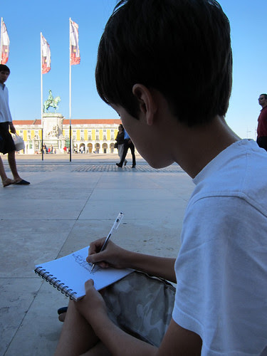 Sketchcrawl with Diogo from Lisbon