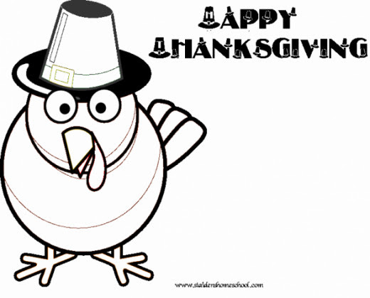 Public Domain Thanksgiving Coloring Pages